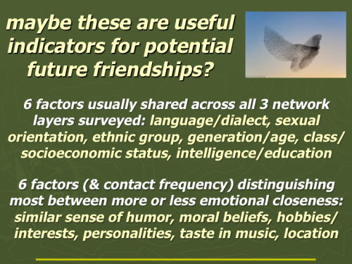 Personal social networks (4th post): birds of a feather